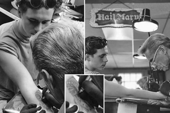tatuaj 1 Fiul lui Beckham si a facut primul tatuaj. Urmeaza alte 39?