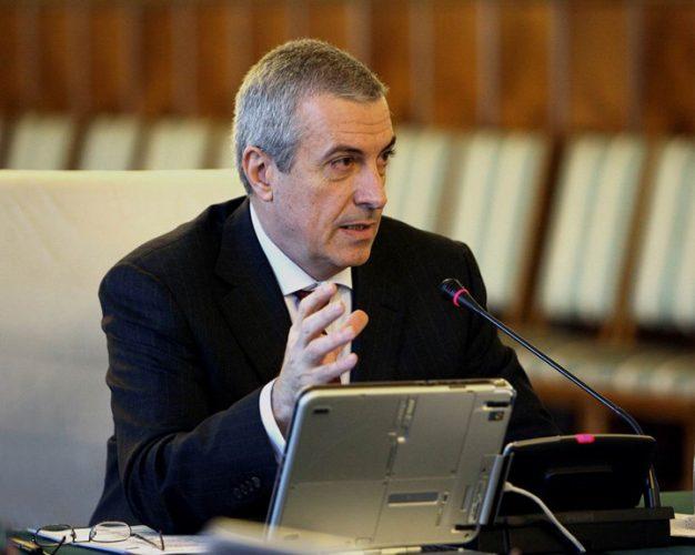 """Călin Popescu Tăriceanu at a government meeting 626x500 Tariceanu vrea sa ia """"butonul"""" interceptarilor de la SRI si DNA"""