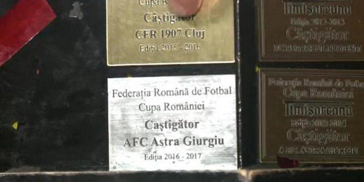 Cupa Ligii 720x360 Cupa Romaniei, castigata de Voluntari, era pregatita numai pentru Astra