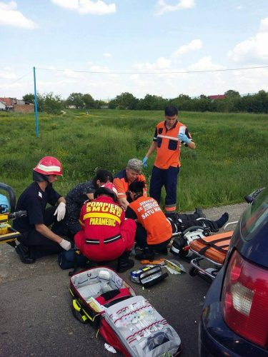 accidsatumare2 1 375x500 Cumplit accident pe E 81, in Satu Mare