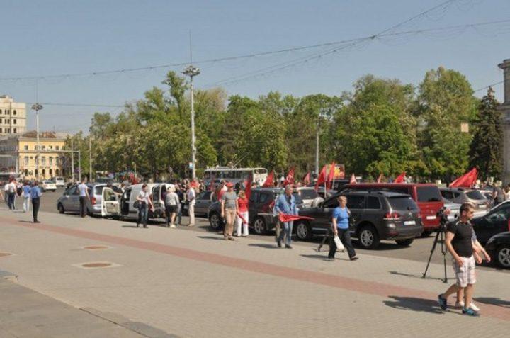 comunisti 0 720x477 Comunistii din Moldova au sarbatorit Ziua Victoriei in avans