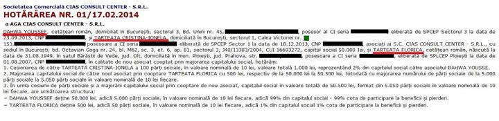facsimil Cias 720x175 Blonda lui Grindeanu de la Turism, parasutare scandaloasa la Romatsa