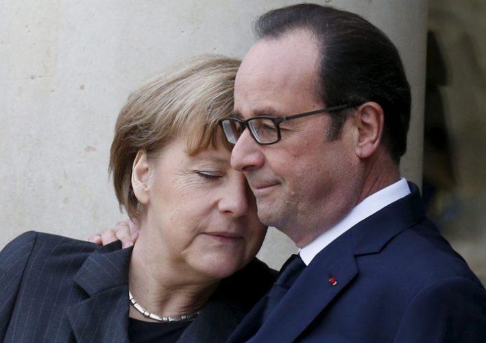 hollande 1 709x500 Merkel, femeia adorata de presedintii Frantei