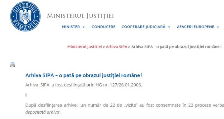 lista 720x384 Lista vizitatorilor arhivei SIPA, publicata de Ministerul Justitiei