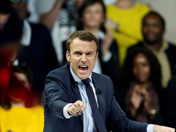 macron Macron cade....peste Le Pen