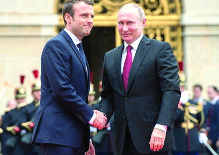putin 1 1 709x500 Macron,  primul skanderberg cu Putin