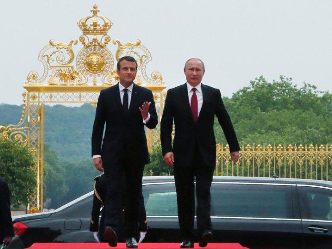 putin 9 667x500 Presa lui Putin, in  razboi cu Macron