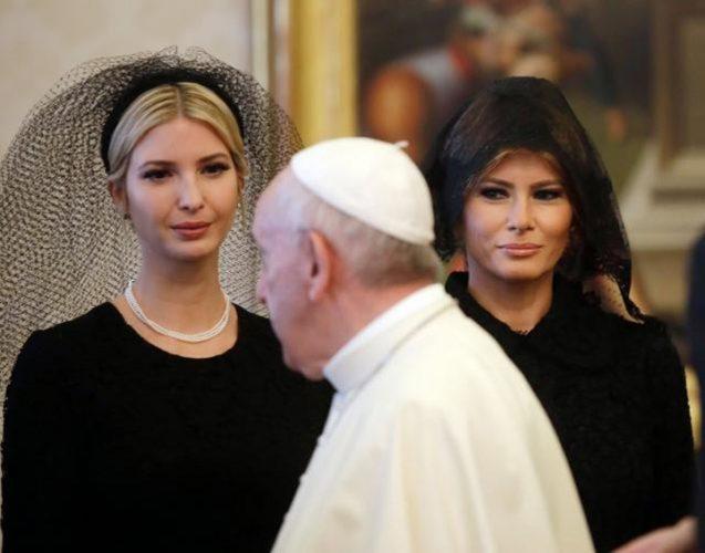 trump vatican 637x500 Aventurile clanului Trump la Vatican