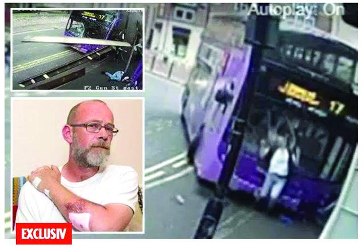 19511939 809455995887069 1970108495 n Accident de groaza: lovit in plin de un autobuz, ca la bowling!