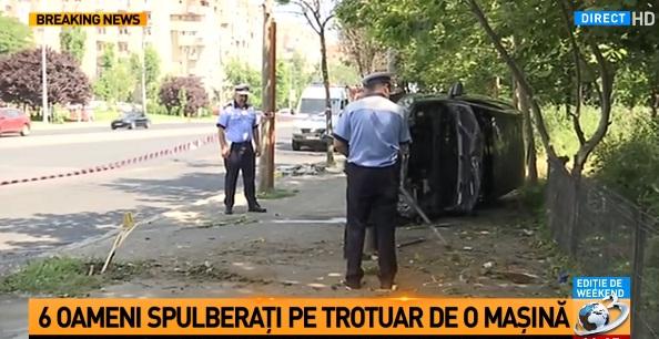 accid buc Accident in Capitala. Sase oameni loviti de o masina, pe trotuar