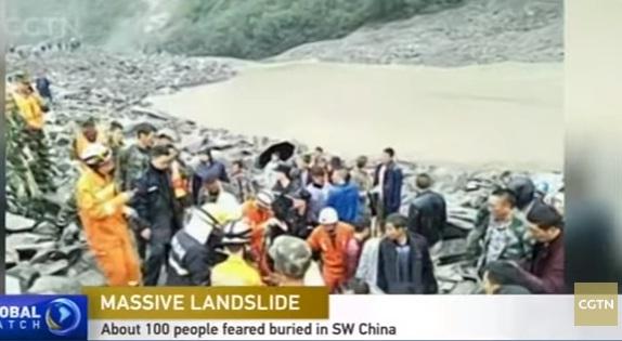 alunec Peste 100 de oameni disparuti, in urma unei alunecari de teren in China (VIDEO)