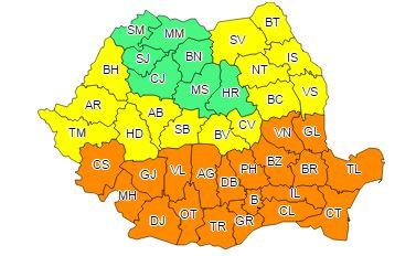 cod 1 canicula Urmeaza zile de foc, de COD PORTOCALIU, inclusiv in Bucuresti