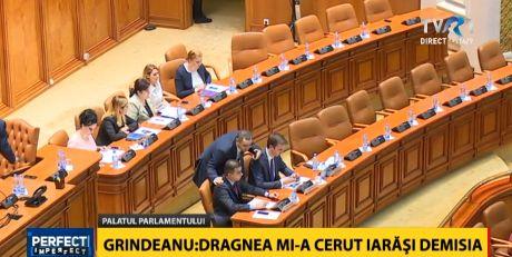 grin3 Imagine atipica: Grindeanu, alaturi de un singur ministru in prezidiul de la Parlament