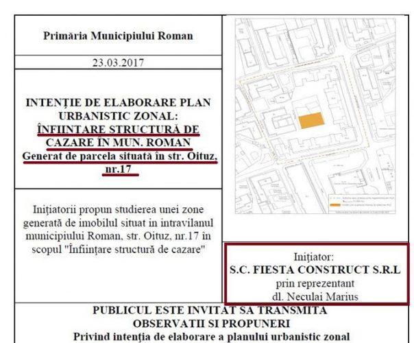 initiere constructie hsotel 604x500 Batalia pentru primaria Roman: pesedistul Neculai isi extinde afacerile