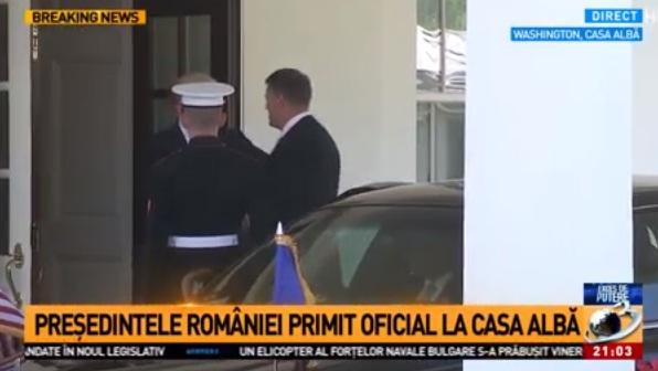 ioh 2 Klaus Iohannis a ajuns la Casa Alba, pentru intrevederea cu presedintele american