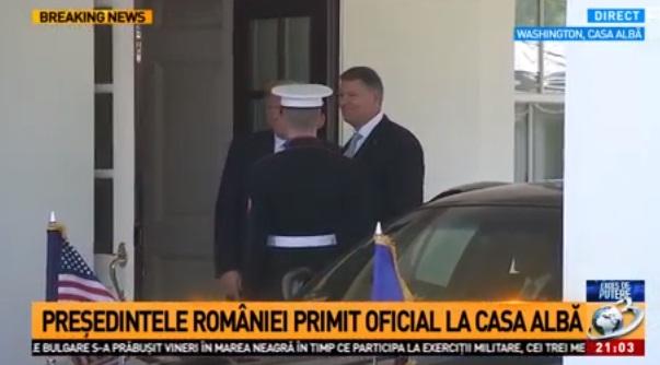 ioh 22 Klaus Iohannis a ajuns la Casa Alba, pentru intrevederea cu presedintele american