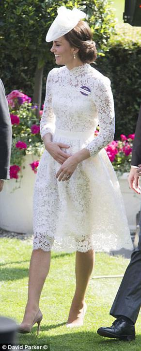 kate Kate, cam transparenta la Royal Ascot 2017