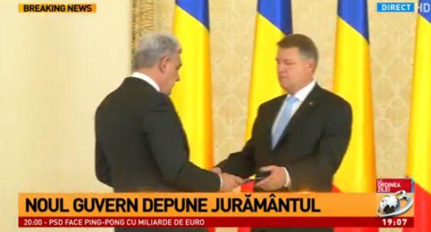 main juram Premierul Mihai Tudose si ministrii, la Cotroceni. Noul Guvern a depus juramantul