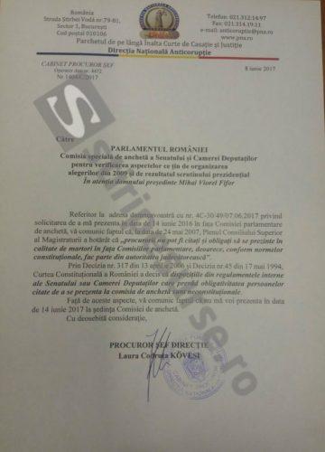 media 149692380340637800 360x500 Kovesi nu vine la comisia de ancheta