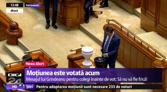 moti Motiunea de cenzura, supusa votului, la momentul de fata