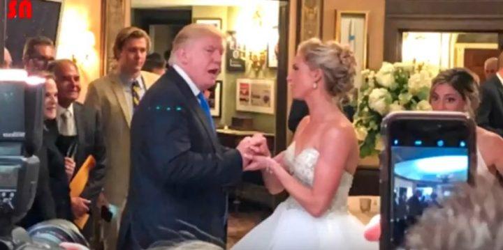 nunt 720x359 Le a facut surpriza vietii! Donald Trump, aparitie fulgeratoare la nunta unor tineri! (VIDEO)