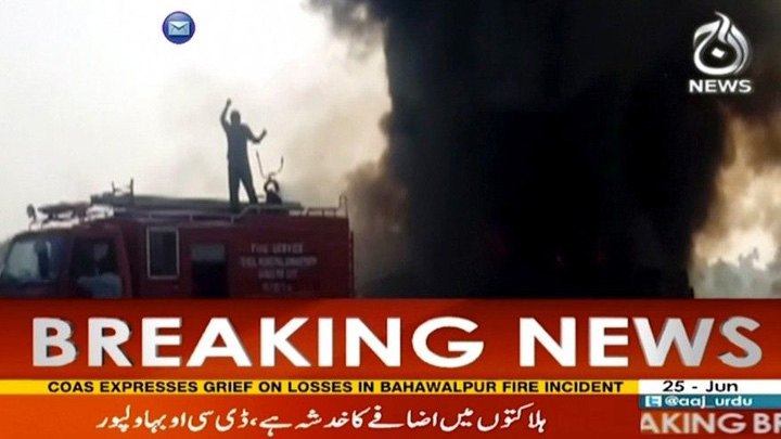 pakisatan6 148 de persoane ucise de explozia unei cisterne