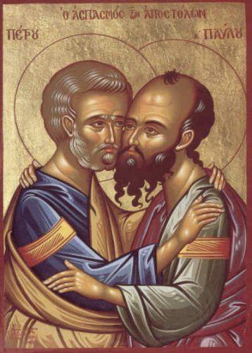 petru si pavel 358x500 Zi de sarbatoare: Sfintii Apostoli Petru si Pavel