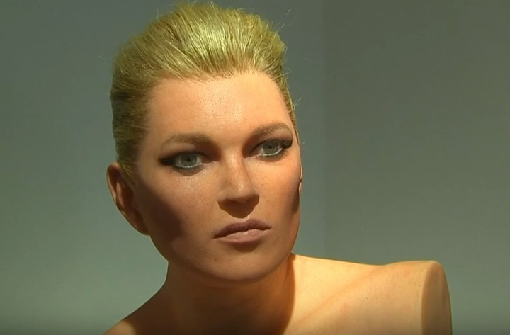 sculptura kate moss Kate Moss, goala si fara brate
