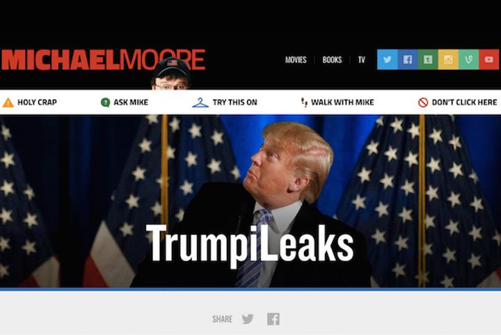 """site Turnati pe """"TrumpiLeaks"""""""