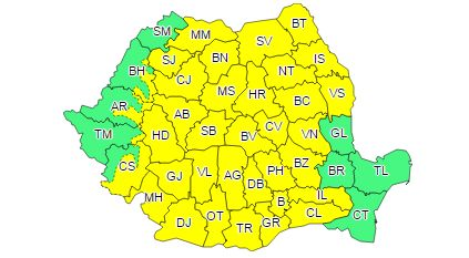 zone cod galben ploi Ploile vor cuprinde majoritatea zonelor. S a emis Cod galben