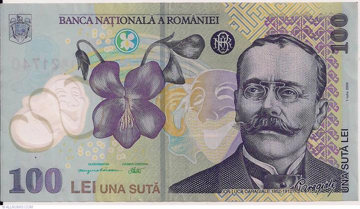 bancnota 100 de lei, cea mai falsificata bancnota din Romania