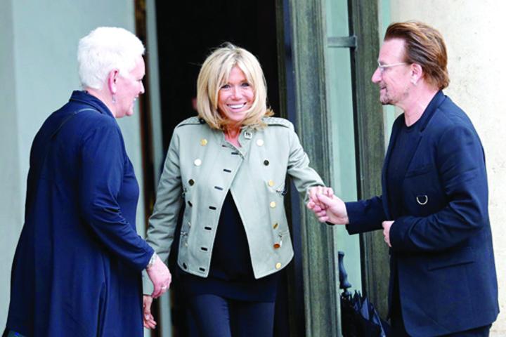 bono 4 Bono, la Elysee cu Brigitte