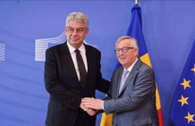 discutii 1 Primele imagini de la discutiile premierului Tudose cu Juncker si Tusk (VIDEO)