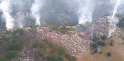 incend Incendiu in Parcul National Domogled. S a cerut interventia unui elicopter MAI