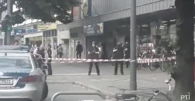 incident Atac intr un magazin german: un om a murit/Sunt si persoane ranite (VIDEO)