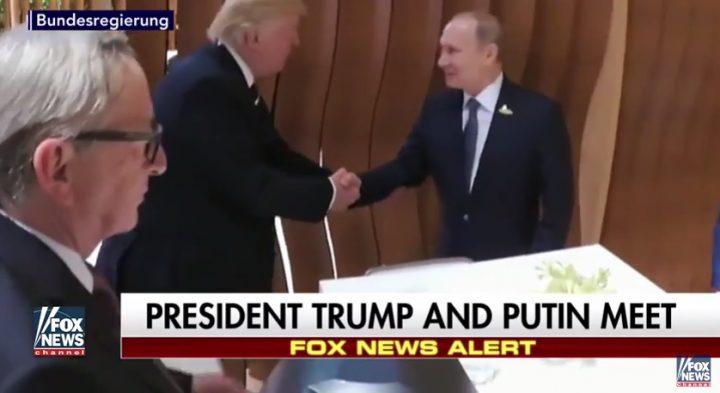 intalnire 720x393 Imagini cu Trump si Putin fata in fata. Prima strangere de mana (VIDEO)