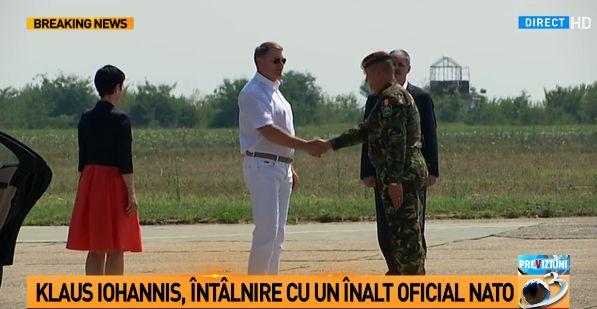 ioh 1 Iohannis, la Constanta. Intrevederi cu un oficial NATO si cu pilotii romani