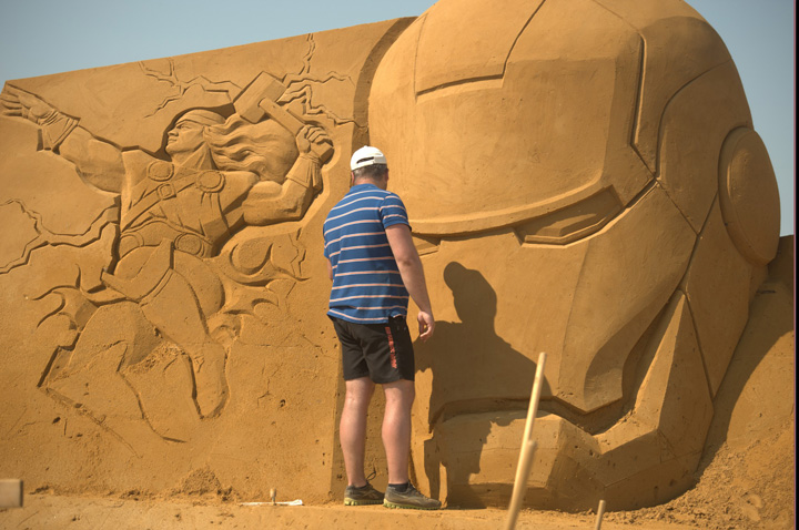 nijsip 2 Personajele Disney au fost sculptate in  nisip!