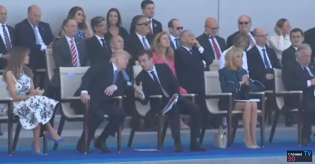 parad Trump, la Paris de Ziua Frantei. A asistat la parada alaturi de Macron (VIDEO)