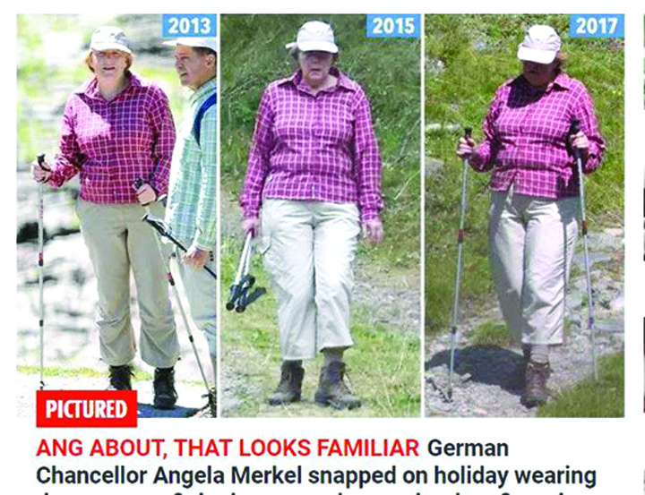 20624107 833459940153341 882041274 n In vacanta, cancelarul Germaniei nu se schimba de haine