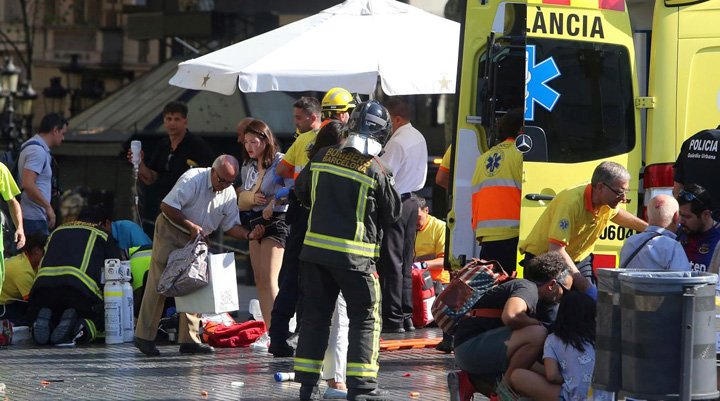 barcelona attack Barcelona sub teroare. Tinta  principala: Sagrada Familia