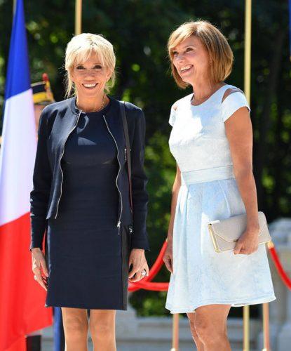 brigitte macron emmanuel bucharest outfit style 1043620 415x500 Macron reformeaza Europa din Romania