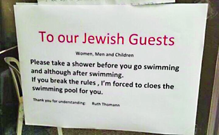 evrei In Elvetia, evreii sunt trimisi la dusuri