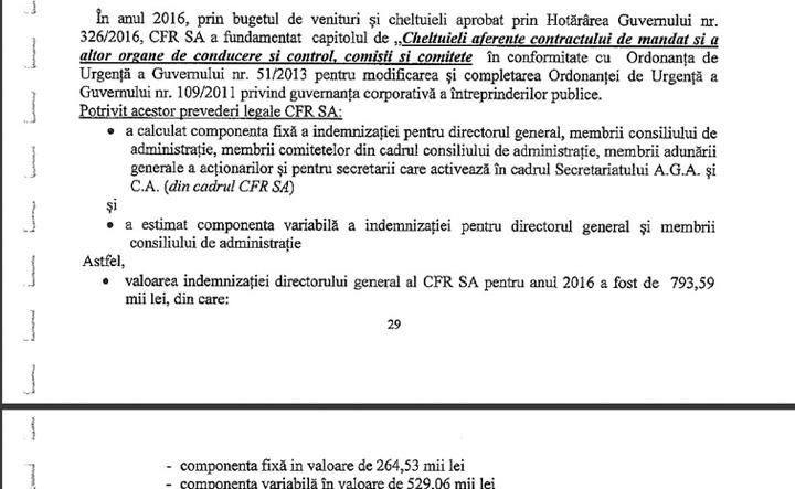 facsimil prima 2016 Chiper Cum vrea CFR istul Marius Chiper sa ascunda urma bonusului de 117.000 de euro