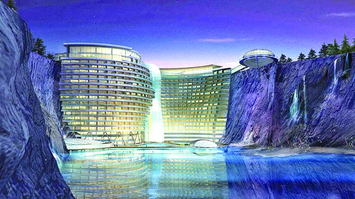 hotel 3jpg Hotelul din cariera de piatra
