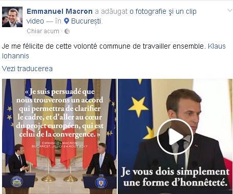 macron fb Macron reformeaza Europa din Romania