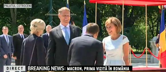 presed Emmanuel Macron, primit cu onoruri la Cotroceni