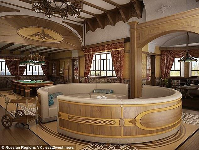 vila putin 1 Putin si a tras o casa de vacanta in care piscina e placata cu aur
