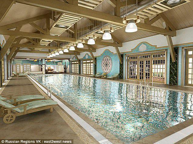 vila putin Putin si a tras o casa de vacanta in care piscina e placata cu aur