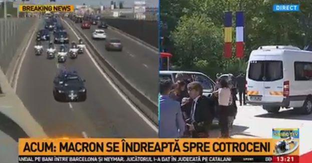vizita Macron, vizita in Romania: intalniri cu Iohannis si Tudose, dar si o vizita la muzeu